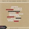 Days of December Word Strips Kit