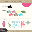 Watercolor Styles Set 2