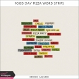Food Day Pizza Word Strips Kit