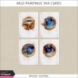 Mug Paintings 3x4 Cards