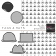 Tags and Hats Templates Kit