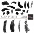 Paint Stroke Brushes Kit 001-020