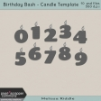 Birthday Bash - Layered Candle Template Kit