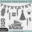 Birthday Bash - Layered Element Template Kit