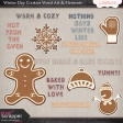 Winter Day Cookies Word Art & Elements Mini Kit