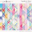 Sparkle and Shine Plaid Papers