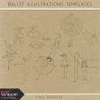 Ballet Illustrations Templates Kit