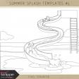 Summer Splash Templates Kit #5