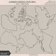 Canada Doodle Outlines