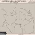 Australia Doodle Outlines
