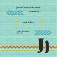 J: Jesus Christ is the Same (Scripture Alphabet Book Page)