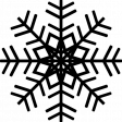 It's Christmas - Snowflake Shape #14