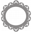 Scalloped Circle Frame Shape Template