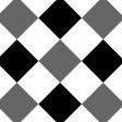 Gingham 3 Inch Squares - Diagonal - Paper Template