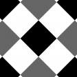 Gingham 4 Inch Squares - Diagonal - Paper Template