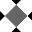 Gingham Paper Template - 6 Inch Squares, Diagonal