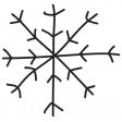 Brush 026 - Christmas 10 Snowflake A