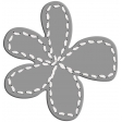 Layered Stitched Flower Template