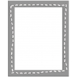 Layered Stitched Rectangle Frame Template