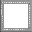 Layered Stitched Square Frame Template
