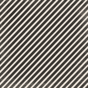 No Tricks, Just Treats- Black & White Diagonal Stripe Paper