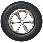 Speed Zone- Metal Rimmed Tire 01