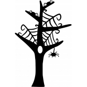 No Tricks, Just Treats- Web Tree Stamp