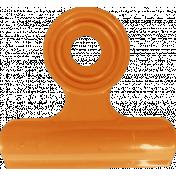 No Tricks, Just Treats- Orange Solid Clip