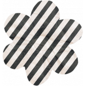 No Tricks, Just Treats- Black and White Striped Flower