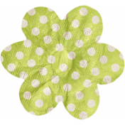No Tricks, Just Treats- Green and White Polkadot Flower