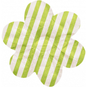No Tricks, Just Treats- Green and White Striped Flower