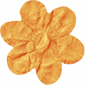 No Tricks, Just Treats- Orange Solid Flower
