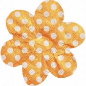 No Tricks, Just Treats- Orange and White Polkadot Flower