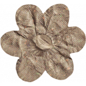 No Tricks, Just Treats- Tan Solid Flower