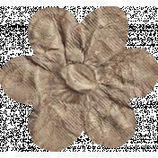 No Tricks, Just Treats- Tan Solid Flower