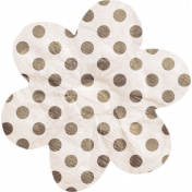 No Tricks, Just Treats- Tan and White Polkadot Flower