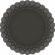 No Tricks, Just Treats - Black Doily