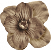 No Tricks, Just Treats- Solid Brown Flower