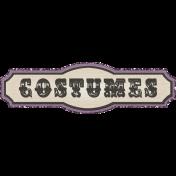 "No Tricks, Just Treats- ""Costumes"" Tag"