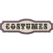 "No Tricks, Just Treats- ""Costumes"" Tag"