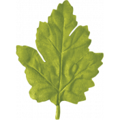 No Tricks, Just Treats-Green Oak Leaf