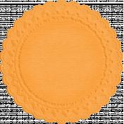 No Tricks, Just Treats-Orange Doily