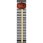 No Tricks, Just Treats-Orange Glitter Pumpkin On A Stick