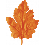 No Tricks, Just Treats-Orange Oak Leaf