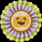 No Tricks, Just Treats-Pumpkin Accordion Burlap Flower