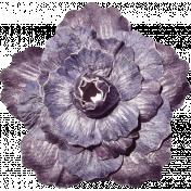 No Tricks, Just Treats-Solid Purple Vintage Flower