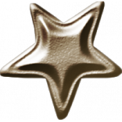 No Tricks, Just Treats-Brown Metal Star
