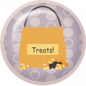 No Tricks, Just Treats-Treat Bag Flair
