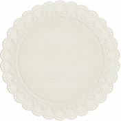 No Tricks, Just Treats-White Doily