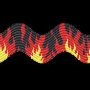 Speed Zone- Black Flame Ric Rac